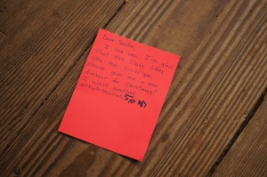 Sam's letter to Santa